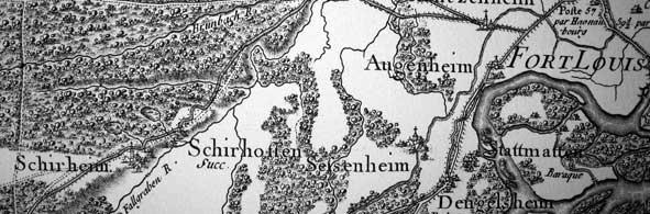 Ancienne carte Schirrhoffen